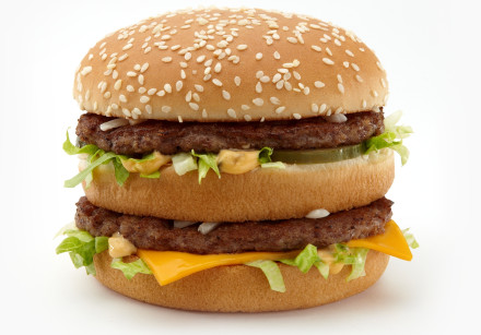 A McDonald's Big Mac burger.