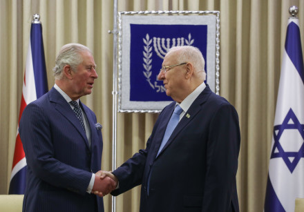 The UK's Prince Charles meets with President Reuven Rivlin ahead of the Fifth World Holocaust Forum,