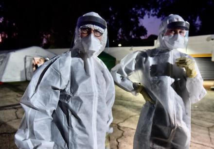 Coronavirus quarantine ward at Sheba Hospital in Ramat Gan