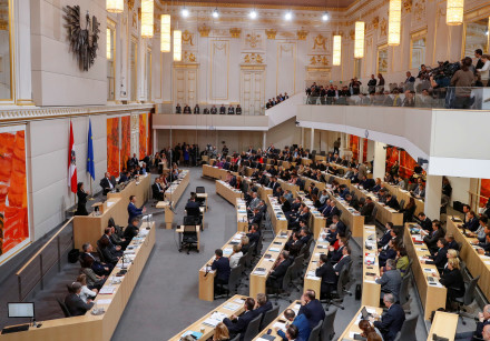 A general view of a session of the parliament in Vienna, Austria, January 10, 2020