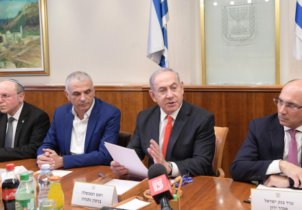 Prime Minister Benjamin Netanyahu discusses the impact of coronavirus with representatives from the
