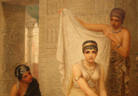A painting of Queen Esther by Edwin Long, 1878, at the National Gallery of Victoria, Melbourne