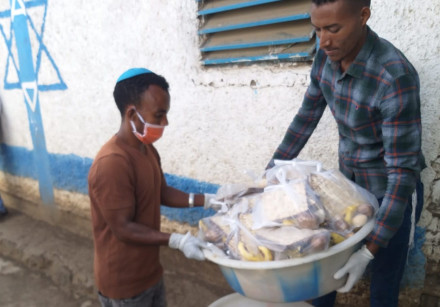 HALF A ton of matzah was flown from Israel to Ethiopia in time for Passover, distributed along with