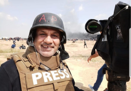 Palestinian cameraman Eyad Hamad, who was fired from AP after the PA filed a complaint against him.