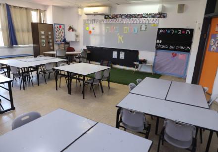 An empty classroom in Israel (Illustrative)