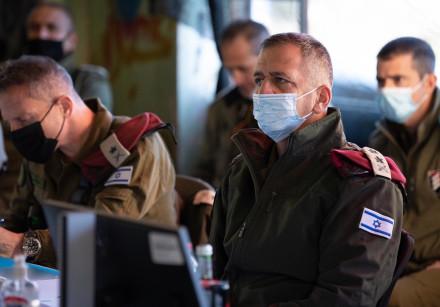 IDF Chief of Staff Lt.-Gen. Aviv Kochavi visits Israel's northern border with Syria.
