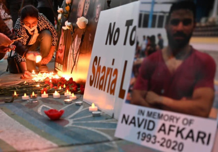 Vigil held for Navid Afkari, a wrestler killed by the Iranian regime, in Toronto, Canada