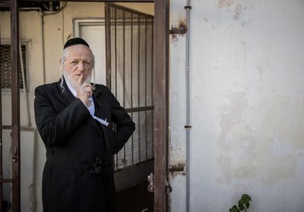 Yehuda Meshi Zahav, Chairman Israel's Zaka rescue unit poses for a picture outside his mother shiva,
