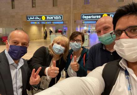 Hadassah-University Medical Center doctors fly to Argentina on May 7, 2021