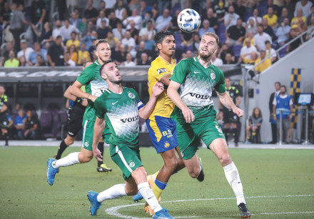 AFTER RALLYING from a two-goal deficit to draw Maccabi Tel Aviv, Maccabi Haifa has a strong hold on
