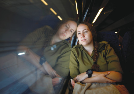 Traveling on the high-speed rail line from Ben-Gurion Airport to Jerusalem