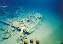 One of the shipwrecks found