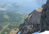 THE STUNNING view from atop Mount Pilatus.