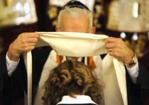 Female rabbi being ordained