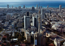 THE TEL AVIV skyline; the area around the city is home to many Israeli start-ups