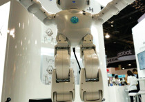 A Lynx robot with Amazon Alexa integration on display in Las Vegas.