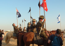 A reenactment of the 1917 Battle for Beersheba