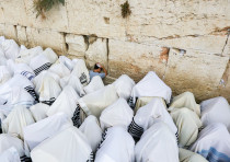 Birkat Kohanim at the Western Wall in Jerusalem.