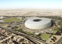 Doha's Al Thumama stadium, designed by a Qatari architect in the shape of a traditional knitted