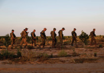 IDF SOLDIERS on a training exercise.