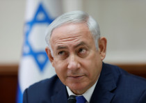 Israeli Prime Minister Benjamin Netanyahu attends the weekly cabinet meeting at his office in Jerusa