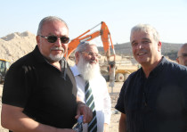 Former Defense Minister Avigdor Liberman, Deputy Defense Minister Eli Dahan and former Settler leade