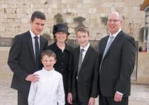 The halickman family in Jerusalem.