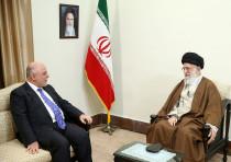 Iran Supreme Leader Ayatollah Ali Khamenei meets Iraqi Prime Minister Haider Al-Abadi in Tehran