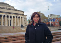 Deputy Foreign Minister Tzipi Hotovely pictured at Columbia University.