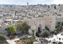 A VIEW of the Old City's Damascus Gate