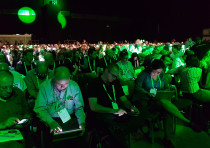 Hi-tech employees attend Nvidia's GPU Technology conference in Tel Aviv
