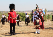 A ceremony marking the 100th anniversary of the Balfour Declaration and the British conquest of the