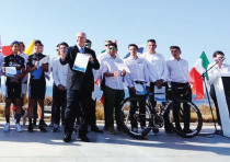 The Israel Cycling Ac ademy's 2018 24-rider team was introduced yesterday and awarded the title of P