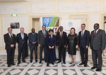 KKL-JNF representatives of Germany and Israel with diplomats and UN representatives at the Internati