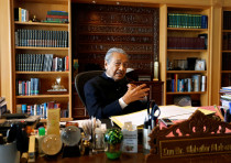 Former Malaysian prime minister Mahathir Mohamad speaks during an interview in Putrajaya, Malaysia.