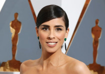 SARAH SILVERMAN arrives at the Academy Awards in Hollywood last year - consistently great in 'I Love