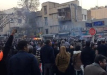 People protest in Tehran, Iran December 30, 2017 in this still image from a video obtained by REUTER