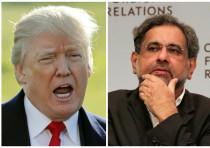 Compilation photo of US President Donald Trump and Pakistani Prime Minister Shahid Khaqan Abbasi