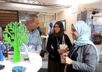 Moroccan doctorate students visit the KKL-JNF Booth at COP23 in Bonn, Germany