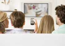Watching television (Illustrative)