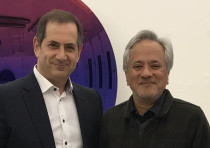 Stan Polovets, Co-Founder, Chairman and CEO of the Genesis Prize Foundation poses with Anish Kapoor