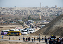 Christian Orthodox pilgrims arrive to celebrate Epiphany holiday at Qasr el Yahud