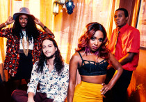 The band Southern Avenue with members Jeremy Powell, Joe Bonamassa, Tierinii Jackson and Tikyra Jack