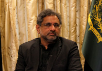 Pakistani Prime Minister Shahid Khaqan Abbasi speaks during an interview in Islamabad, Pakistan.
