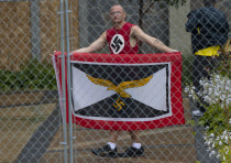 Members of White Supremacy groups gather in West Allis, Wisconsin.