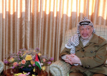 Yasser Arafat in 1968 at the then PLO head quarters.