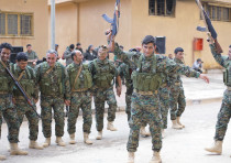 FIGHTERS FROM a new internal security force under the command of the Syrian Democratic Forces