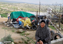a woman from the West Bank village of Sussiya