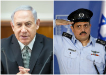 Prime Minister Benjamin Netanyahu and Police Chief Roni Alsheich