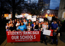 High school students march for safer gun laws